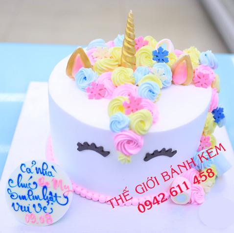 Bánh sinh nhật hình unicorn mã B16198