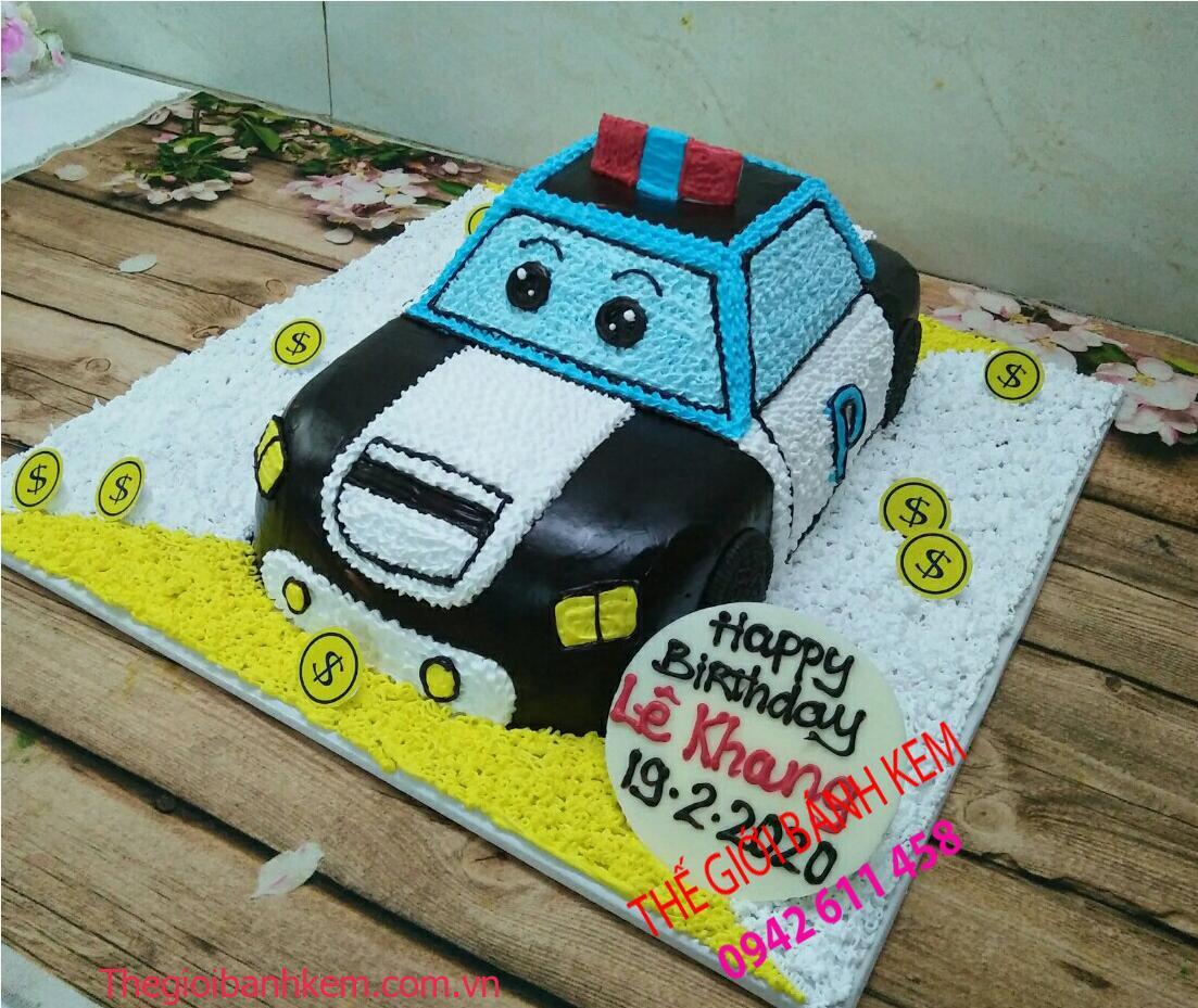 Bánh kem sinh nhật hình xe hơi mã B11058