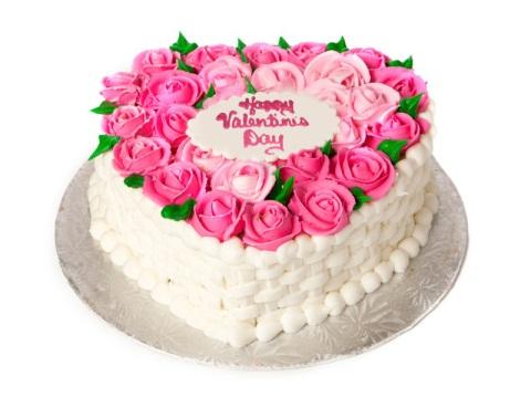 Bánh tim hoa hồng mã B420