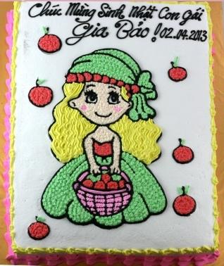 Bánh công chúa dâu tây mã B030