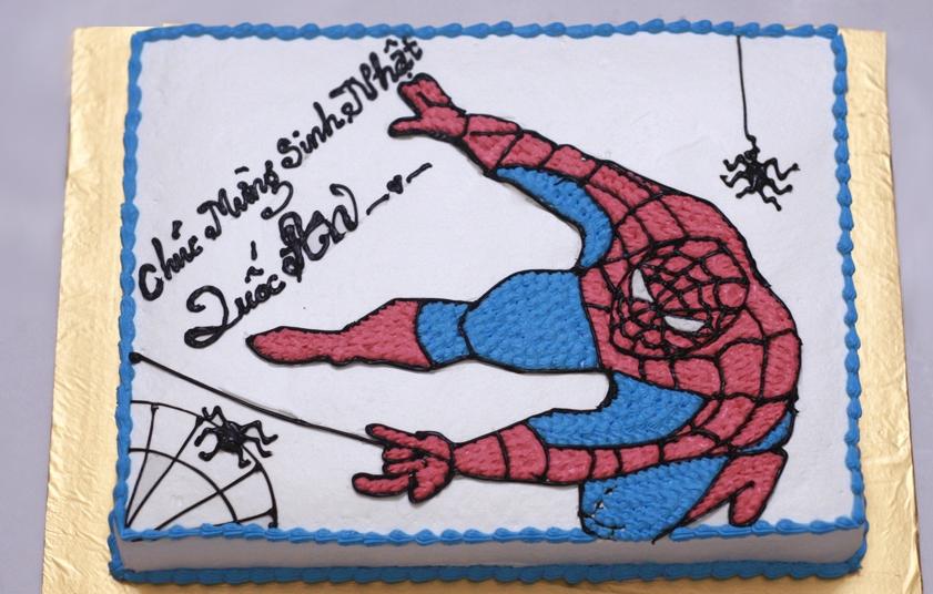Bánh người nhện Spider Man mã B2702