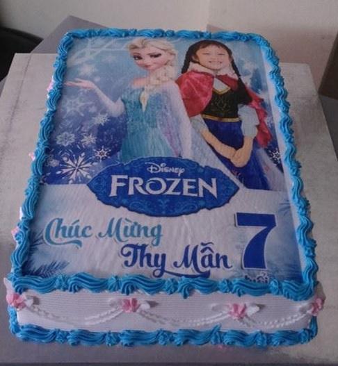 Bánh công chúa băng giá Frozen mã B2152