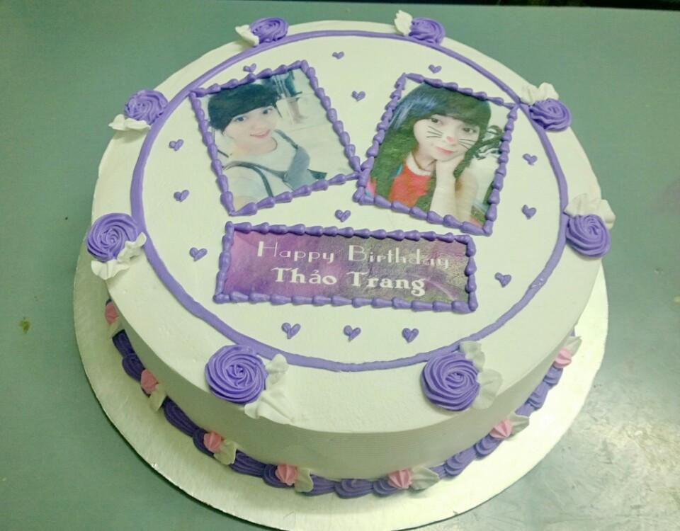 Bánh sinh nhật in ảnh Mã B1899