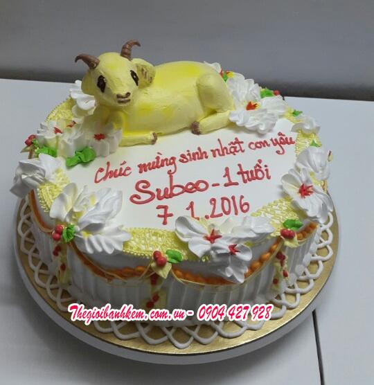 Bánh sinh nhật con dê Mã B1705