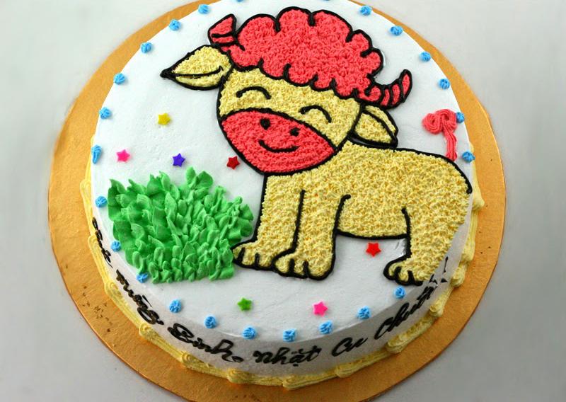 Bánh sinh nhật con dê Mã B1709