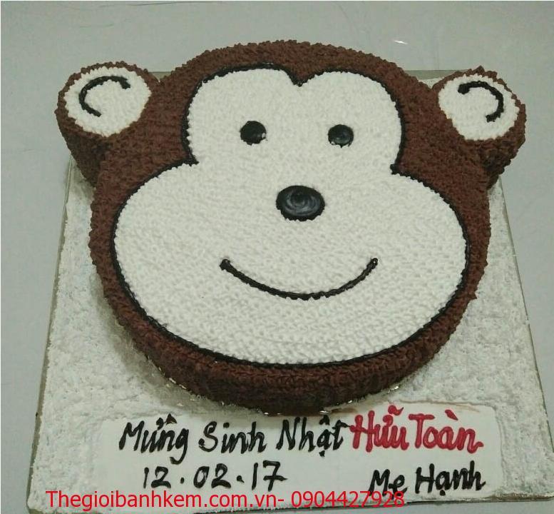 Bánh sinh nhật mặt khỉ dễ thương B1724