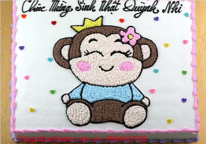 Bánh kem tuổi khỉ dễ thương B1729