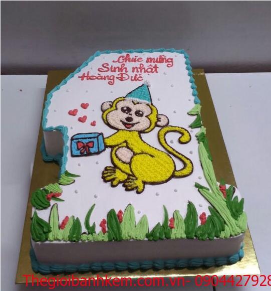 Bánh sinh nhật tuổi khỉ Mã B1737