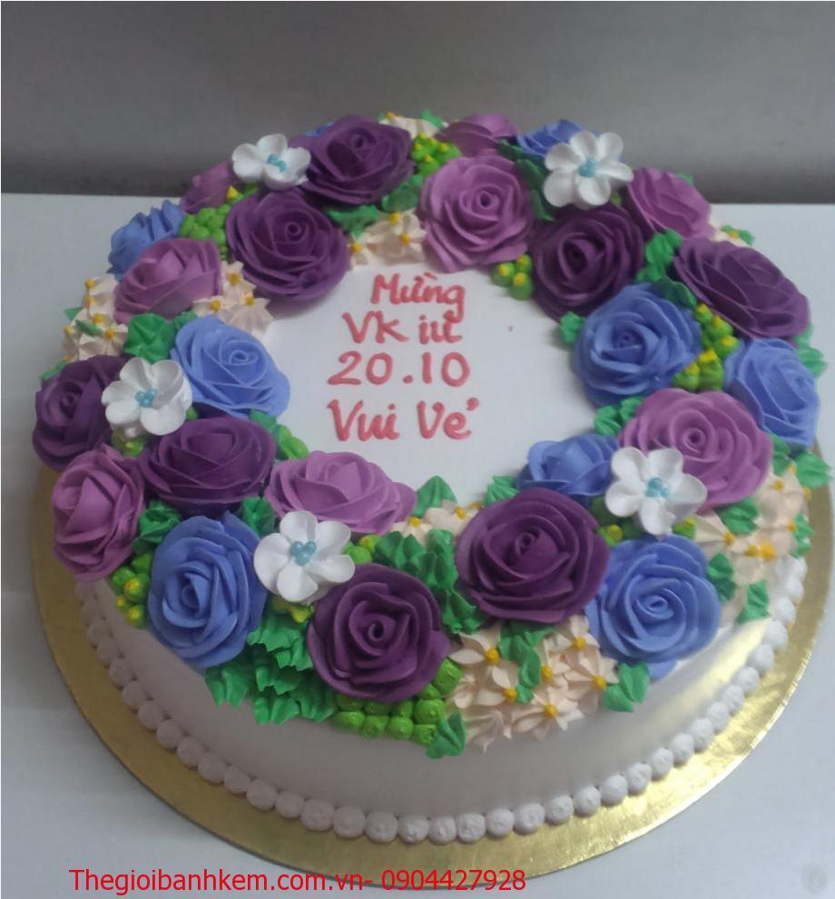 Bánh kem hoa hồng Mã B1048