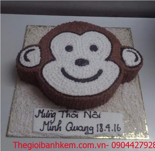 Bánh sinh nhật mặt khỉ dễ thương B1744