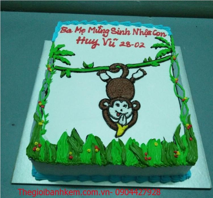 Bánh sinh nhật tuổi khỉ Mã B1740
