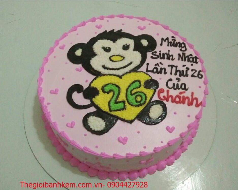 Bánh sinh nhật con khỉ Mã B1761
