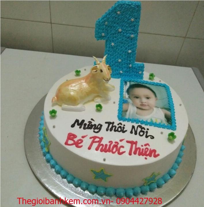 Bánh sinh nhật con dê mã B1763