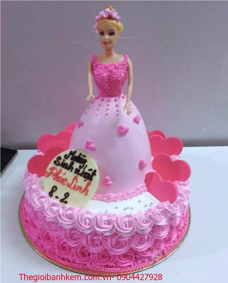 Bánh kem công chúa 2 tầng Mã B2646