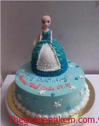 Bánh búp bê công chúa Elsa 3D Mã B2653