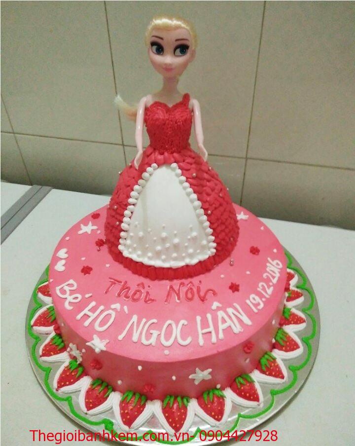 Bánh kem công chúa 3D mã B1307
