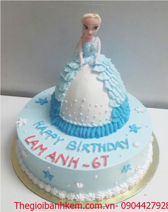 Bánh búp bê công chúa Elsa 3D Mã B1707