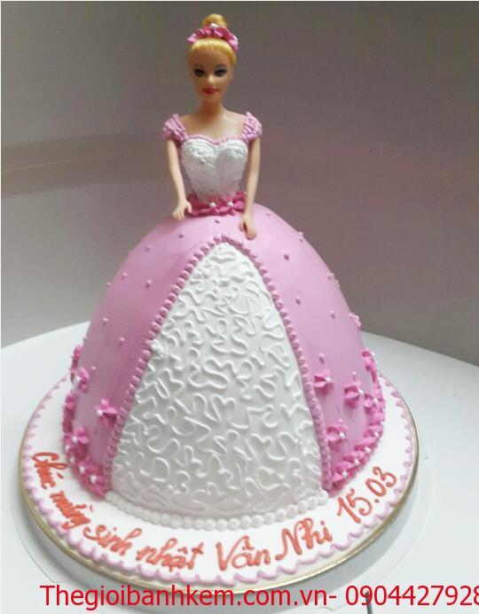 Bánh sinh nhật công chúa 3D Mã B1807