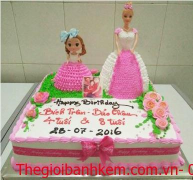 Bánh kem công chúa mã B2407