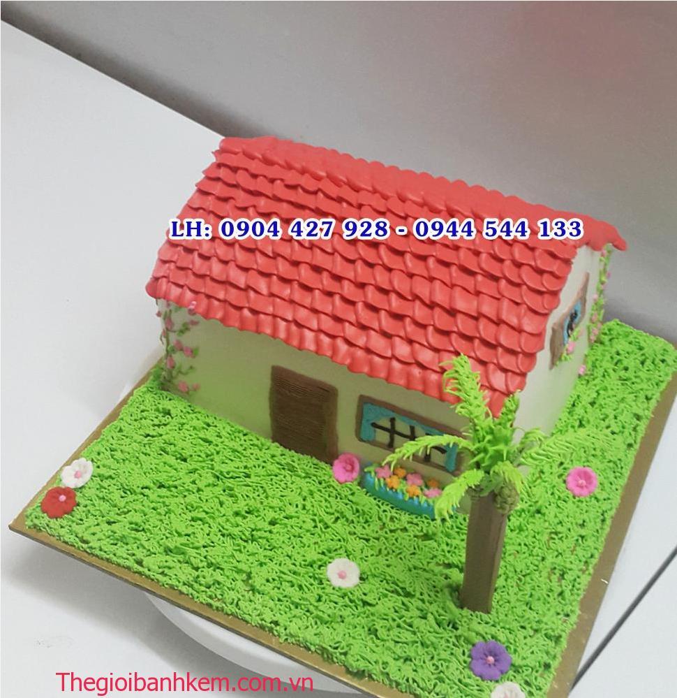Bánh sinh nhật ngôi nhà Mã B2140