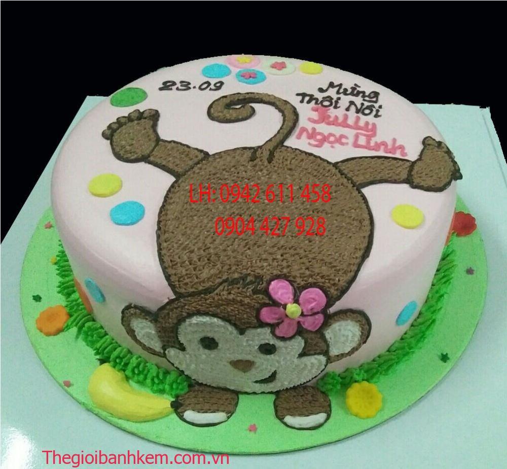 Bánh sinh nhật tuổi khỉ Mã B5382