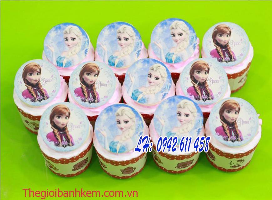Bánh cupcake elsa và anna Mã CC06