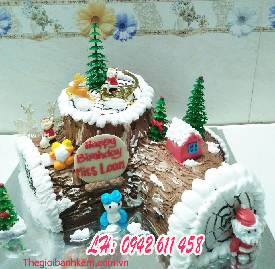 Bánh kem khúc cây noel Mã B2145