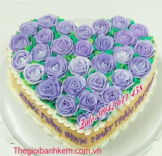 Bánh kem hình trái tim Mã B11042