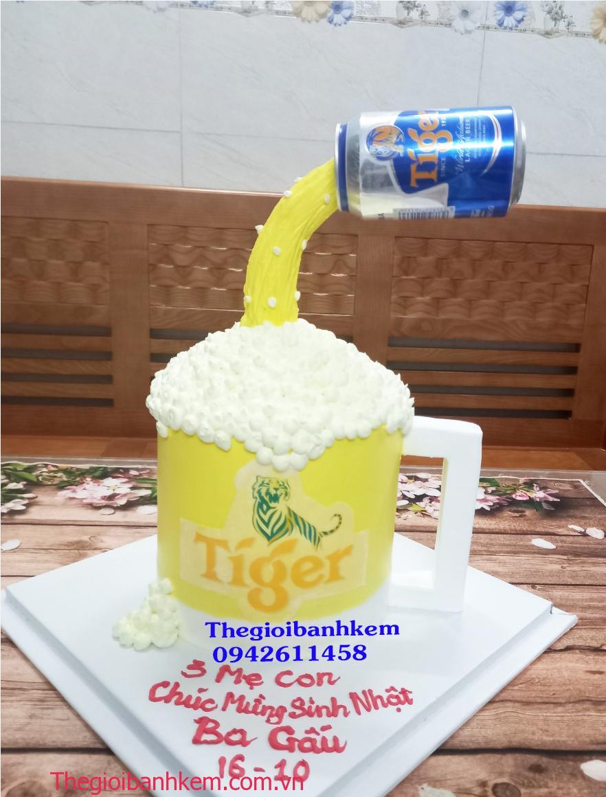 Bánh kem ly bia Tiger mã B13425