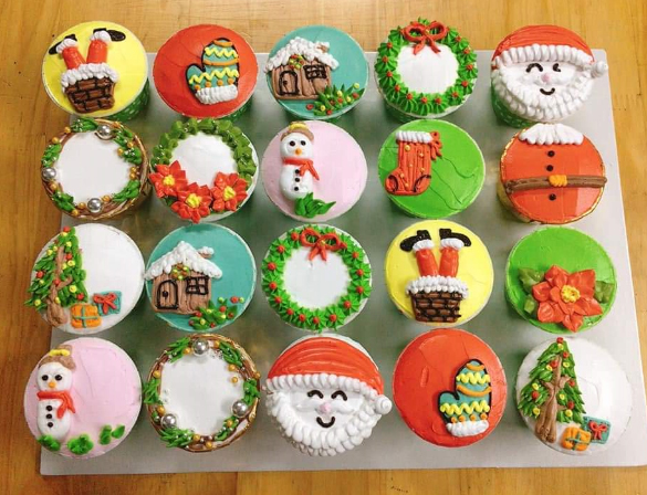 Bánh cupcake noel CC75